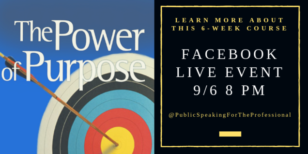 Last chance to learn about the Power of Purpose!